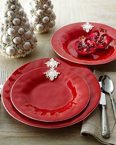 BELLINI SARA SRL Red Crest Dinnerware
