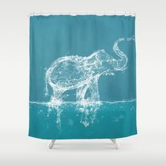 Buy Shower Curtains featuring Elephant by Paula Belle Flores. Made from 100% easy care polyester our designer shower curtains are printed in the USA and feature a 12 button-hole top for simple hanging.