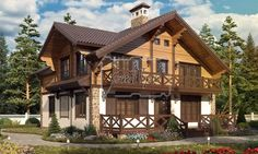 Шале 14-45 (ЭКОНОМ) Код:p_1445-1 / zetproject.ru Cabin, Mansions, Architecture, House Styles, Projects, Home Decor, Blue Prints, Manor Houses, Cabins