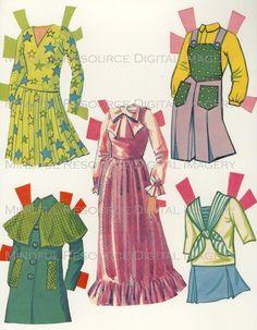 Printable Paperdoll Vintage Fashion Paper Doll Malibu Francie 1973 w/ 25 Dress Ensembles -Digital Download Sheets Scanned from Originals. $5.00, via Etsy.