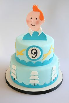 Tintin The Secret Of The Unicorn Birthdaycake for my son's birthday