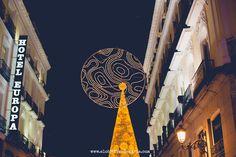 Centro de Madrid en Navidad