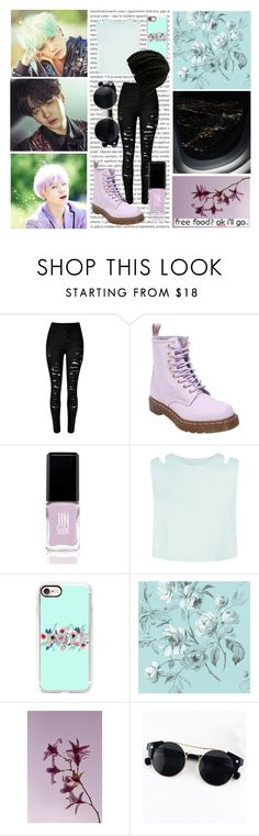 """The colors of Min Yoongi"" by danisaur612 ❤ liked on Polyvore featuring Oris, Dr. Martens, JINsoon, Casetify and Volcom"