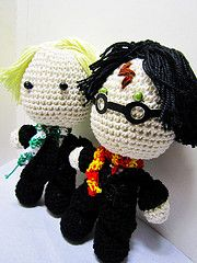 crocheted harry potter and draco malfoy