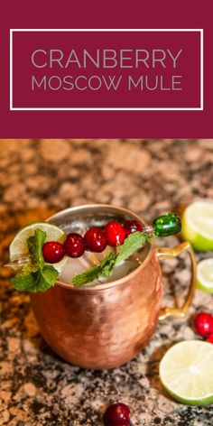 Moscow Mule — Tiaras & Tantrums - Holiday mule cocktail -Cranberry Moscow Mule — Tiaras & Tantrums - Holiday mule cocktail - Thanksgiving jungle juice is for when you want to be the drunk uncle at Thanksgiving. Get the recipe at Kahlua Frozen Mudslide Moscow Mule Drink, Moscow Mule Recipe, Apple Recipes, Holiday Recipes, Fall Recipes, All You Need Is, Cocktails Made With Vodka, Christmas Cocktails, Holiday Cocktails