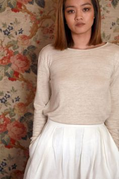 Top en lin bio made in France ! Style Simple, Coton Bio, Slow Fashion, Pulls, Sustainable Fashion, Skater Skirt, Skirts, How To Make, Clothes