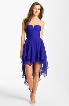 Hailey by Adrianna Papell Notched Bodice Chiffon Dress