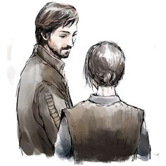 Fan art for Rogue One - Jyn & Cassian (2017.1) ❤ liked on Polyvore featuring home and home decor