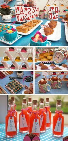 Alice in Wonderland inspiration. The Alice in Wonderland style is a recurring theme in theme parties and really easy to imitate. Mad Hatter Party, Mad Hatter Tea, Mad Hatters, Alice Tea Party, Mad Tea Parties, Alice In Wonderland Birthday, Alice In Wonderland Party Ideas, Wonderland Alice, Festa Party