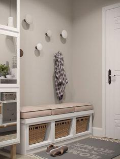 68m2-es lakás lakberendezése egy fiatal párnak - áttervezett elosztás, könnyed, világos, otthonos dekoráció skandináv stílusban FALSZÍN