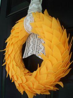 felt leaf wreath
