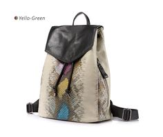 14a2f178a1 Fashion Serpentine Print Artificial Leather Shoulder Backpack