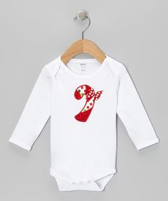 Look what I found on #zulily! White Candy Cane Bodysuit - Infant by Holiday by Petunia Petals #zulilyfinds