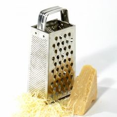 Morgan's Famous Grater...a staple for every kitchen! Hint: the tin one stays sharper longer.