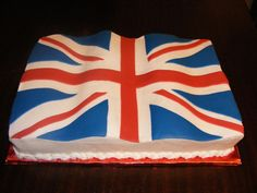 Union Jack cake - waving in the wind