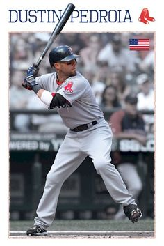 Boston Red Sox Dustin Pedroia Sports Poster at bat click image to purchase! Boston Sports, Boston Red Sox, Dustin Pedroia, Red Sox Nation, Perfect Legs, Boston Strong, Go Red, Win Or Lose, Fenway Park