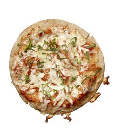 Low-Calorie Snacks for Every Craving    Pita pizza (1 small whole-wheat pita, 1 tablespoon marinara, 1 ounce part-skim mozzarella, oregano, and basil)  160 calories, 3g fiber, 10g protein, 6g fat