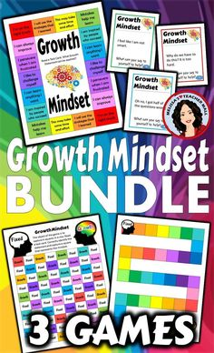 Keep Growth Mindset in front of the students with a fun and engaging Growth Mindset Game. It's a great way to remind your class to check their thinking. This Game Bundle has games for the whole class or small groups. As you work to help students become more growth-oriented learners why not practice with a game.  This resource is intended to give you some tools to keep the discussions going. A fresh new way to look at Growth Mindset.