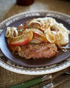 Roasted Ontario Veal Medallions with Apple Balsamic Sauce