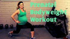 This 25 minute prenatal workout uses only bodyweight moves to get your heart rate up and tone and strengthen your body, all in a safe and effective way for p...