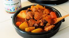 North African Tagine Inspired Slow Cooker Stew Healthy Lamb Recipes, New Recipes, Whole Food Recipes, Slow Cooker Stew Recipes, Lamb Stew, Beef Stew Meat, Slow Roast, Whole Foods Market, Moroccan