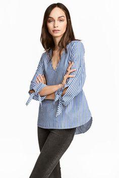 Striped blouse - Blue/White/Striped - Ladies | H&M