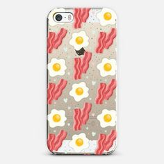 Breakfast time! Cute eggs and bacon -