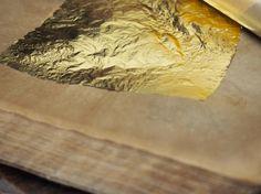 A sheet of gold leaf. Image by Evelyn Teploff-Mugii. Kanazawa, Gold Leaf, Contemporary Art, Creative, Crafts, Japan, Image, Travel, Manualidades