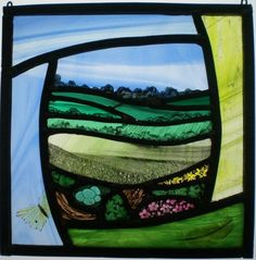 Painted Glass Art Old Windows Stained Glass Paint, Stained Glass Designs, Stained Glass Panels, Stained Glass Projects, Stained Glass Patterns, Leaded Glass, Mosaic Glass, Fused Glass, Layout