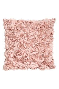 Chiffon Flower Cushion Cover | Light pink | H&M HOME | H&M US
