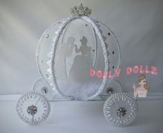 Carriage Cake Topper Quinceanera Centerpiece by DollyDollz on Etsy
