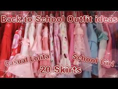 Back to School Outfit Ideas - Casual Lolita & Sailor Scout Skirts - YouTube