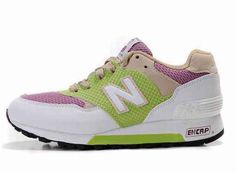 Outlet Womens New Balance LightGreen Pink White