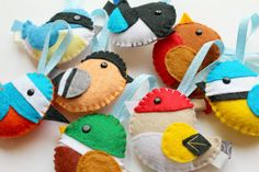Make Your Own Felt British Birds Collection Kit. Woodland decorations. Felt decorations. Woodland decor. Sewing pattern