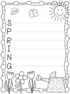 Here's a spring writing freebie for you! It contains five pages, two for a spring acrostic poem and three for a creative writing. Get your kiddos excited about spring with some fun writing paper! Kindergarten Writing, Teaching Writing, Student Teaching, Writing Activities, Literacy, Teaching Poetry, Writing Ideas, Spring School, First Grade Writing