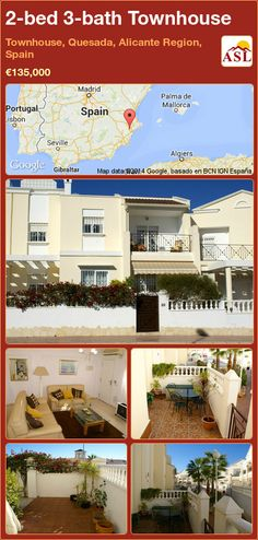Townhouse for Sale in Townhouse, Quesada, Alicante Region, Spain with 2 bedrooms, 3 bathrooms - A Spanish Life