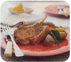 cote de porc aux poires caramelisees