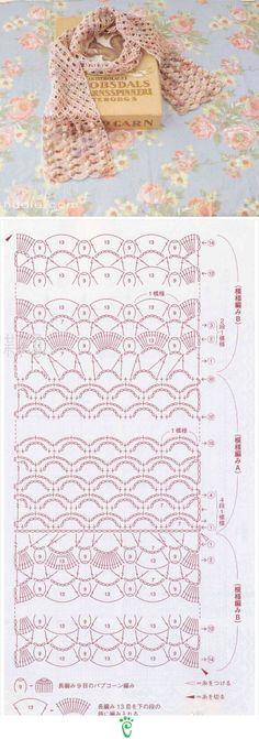 Punto de crochet para bufanda