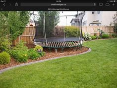 plan for new garden with trampoline space - Google Search
