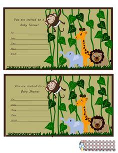 Kit de la Selva para Baby Shower, para Imprimir Gratis.