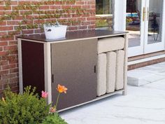 Outdoor spaces keep getting more organized, thanks to items such as the new  patio storage box  by  Telescope Casual .