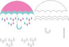 Molde Chuva de Amor EVA - Feltro e Artesanatos 3 Felt Crafts, Diy And Crafts, Paper Crafts, Cloud Party, Quiet Book Templates, Baby Shoes Pattern, Unicorns And Mermaids, Felt Quiet Books, 3d Cards