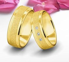 Couple Rings, Gold Earrings, Jewelry Design, Wedding Rings, Engagement Rings, Jewels, Ideas, Gold Wedding Rings, Mariana