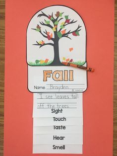 This 5 senses 4 seasons flipbook is adorable. There is a flat and 3D tree craft topper for each season. It also comes with straight lines and handwriting lines. Your students will love thinking about their senses and the seasons while making this craftivity.