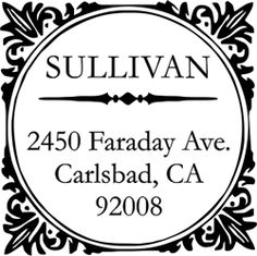 Image of Sullivan Square Address Stamp
