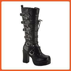 Demonia by Pleaser Women's Gothika-200 Platform Boot, Blk Vegan Leather, Size - 8 - Boots for women (*Amazon Partner-Link)
