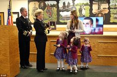 The ceremony for 26-year-old Smith fell on January 14, the same date he married his wife, Angie Smith (right, surrounded by their three daughters) years ago