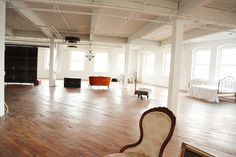 I would give just about anything for a studio space like this!!!  Look at all that natural light!!  Sigh.......