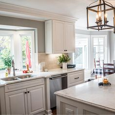 Livable elegance best describes this stunner designed using 660 Painted Linen by Emily Porzel of WS Solutions in Toledo, OH. Painting Cabinets, Cabinet Doors, Lighting Ideas, Kitchen Remodel, Living Spaces, Kitchen Cabinets, Table, Room, Furniture