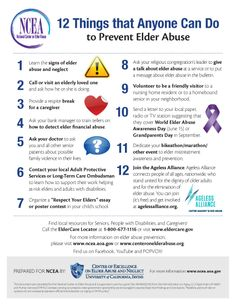 12 things anyone can do to prevent #ElderAbuse. National Elder Abuse Awareness Day is June 15 #NEAAD2014